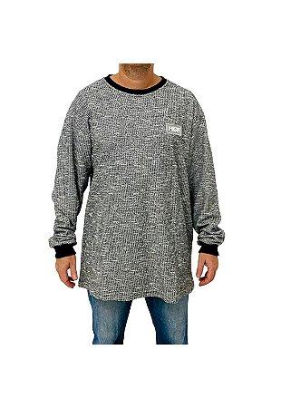 Camiseta High Tweed Longsleeve Preto