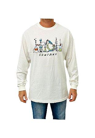 Camiseta High Longsleeve Lab Branco