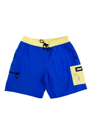 Shorts High Cargo Beige/Blue