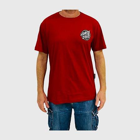 Camiseta Santa Cruz Damaged Dot Vermelho
