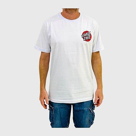 Camiseta Santa Cruz Damaged Dot  Branco