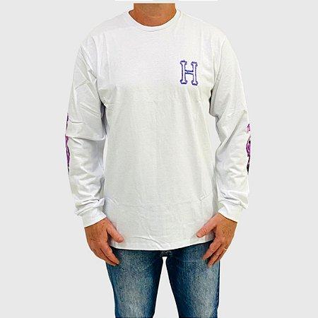 Camiseta Huf Manga Longa Screw Head Branco