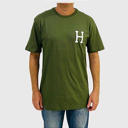 Camiseta HUF Global Trip H Verde Militar