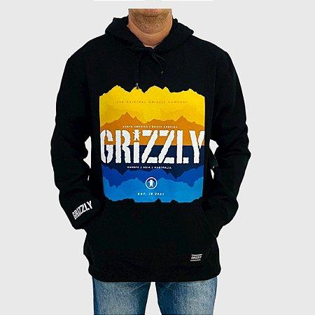 Moletom Grizzly Reflection Preto