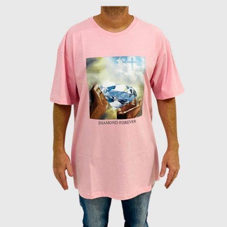 Camiseta Diamond Forever Rosa