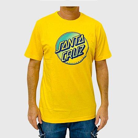 Camiseta Santa Cruz Contra Dot Amarelo