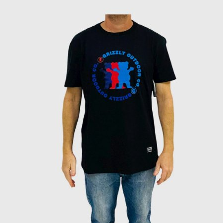 Camiseta Grizzly Faceoff Preto