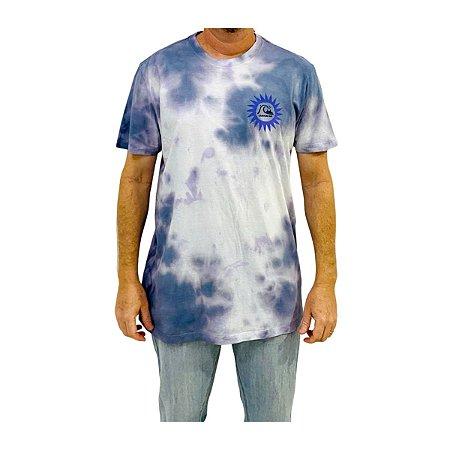 Camiseta Quiksilver Spiral Work Branco/Azul