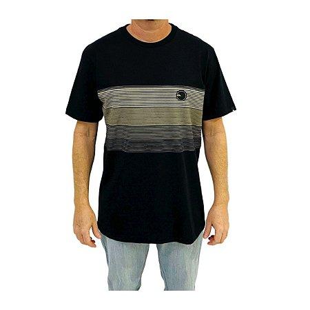 Camiseta Quiksilver New Stipe Preta