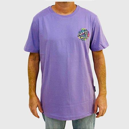 Camiseta Santa Cruz Strange Dot Lilás