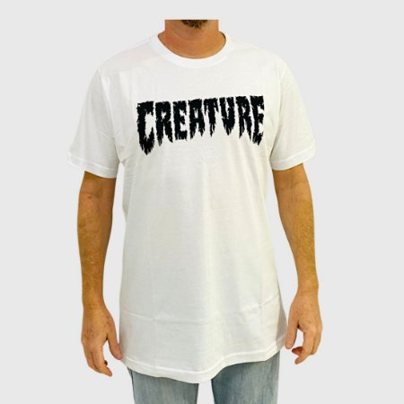 Camiseta Creature Shredded Branca