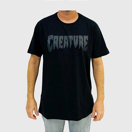 Camiseta Creature Shredded Preta
