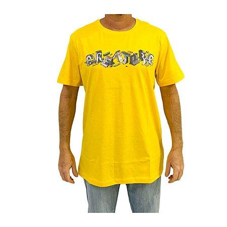 Camiseta Creature Slab Diy Amarela