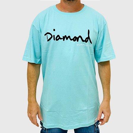 Camiseta Diamond Og Script Azul