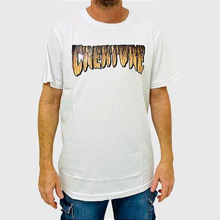 Camiseta Creature Logo Rust Branco