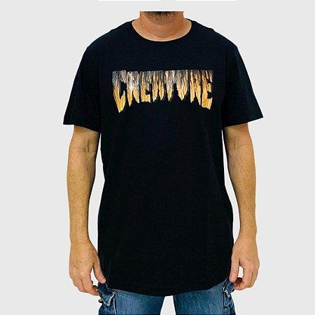 Camiseta Creature Logo Rust Preto