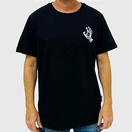 Camiseta Santa Cruz Amoeba Hand Preto