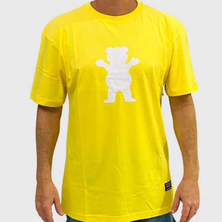 Camiseta Grizzly Og Bear Amarelo