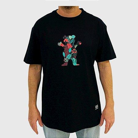 Camiseta Grizzly Rose Garden Bear SS Preto