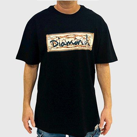 Camiseta Diamond Chesapeake Box Logo Preto