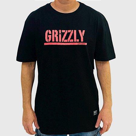 Camiseta Grizzly Stamp Preto