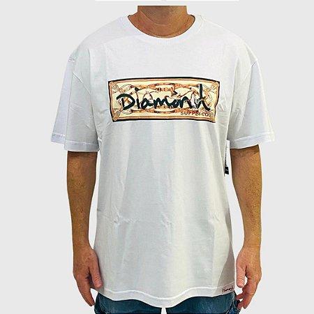 Camiseta Diamond Chesapeake Box Logo Branco