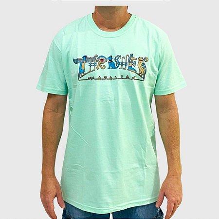 Camiseta Thrasher Hieroglyphics Verde Claro
