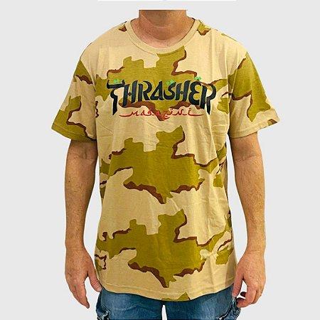 Camiseta Thrasher Especial Calligraphy Marrom