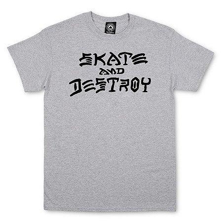 Camiseta Thrasher Magazine Skate and Destroy Grey  Importada M