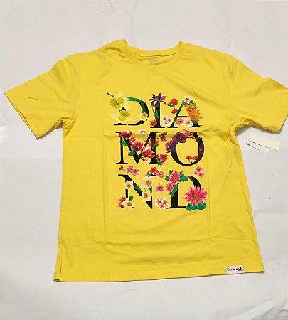 Camisa Diamond Botanical Yellow