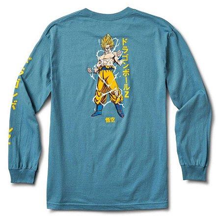 Camisa manga longa Primitive Dragon ball Vegeta Azul