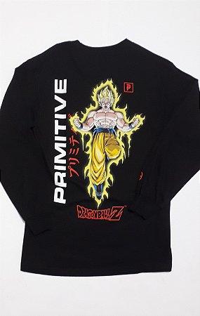 Camisa Primitive Manga Longa Dragon Ball Z Black P