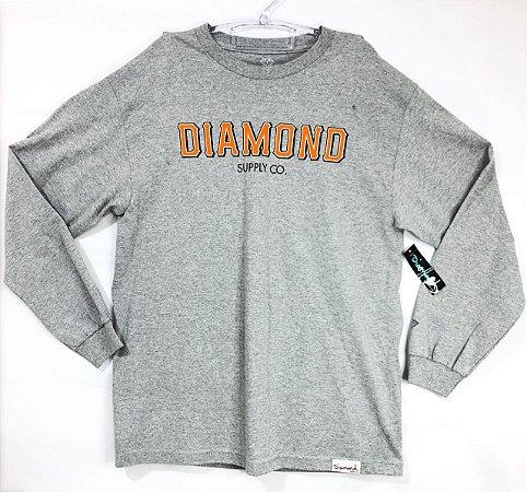 Camisa Manga Longa Diamond L (G) Cinza