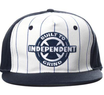 Boné Independent BTG Azul Marinho e Branco
