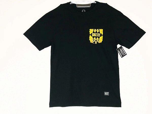 Camisa Grizzly  Gold Leaf Pooke Black G