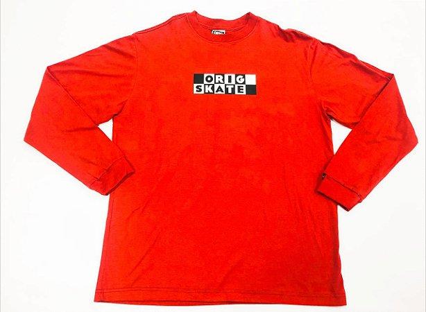 Camisa Manga Longa Orig Skate Red L (G) E XXL