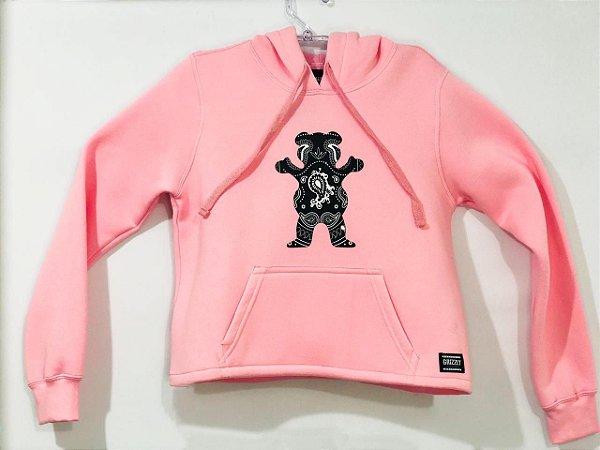 Moletom Grizzly OG Bear Bandana Hoddie Cropped Pink G