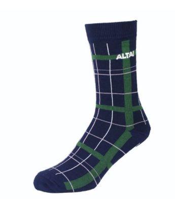 Meia Altai Escocesa Azul e Verde