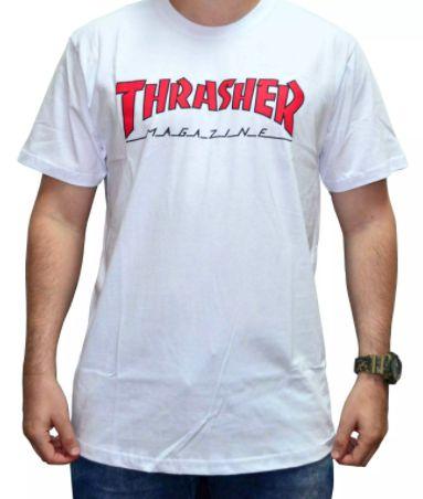 Camiseta Thrasher Outlined Branca ( Tam.: M)