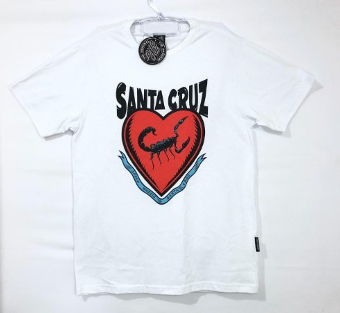 Camiseta Santa Cruz Scred Heart Branco M