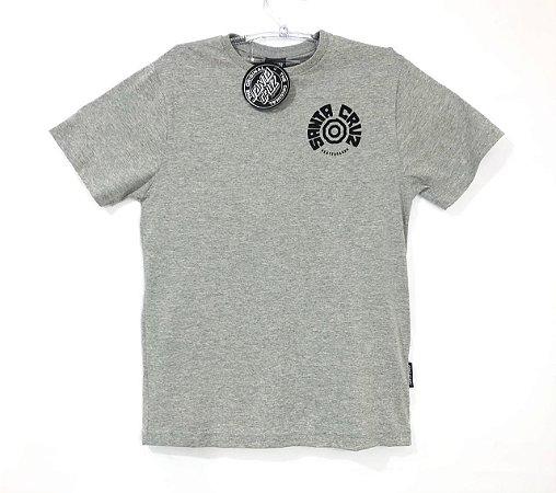 Camiseta Santa Cruz Juvenil Tortile Cinza Mescla Tam 12