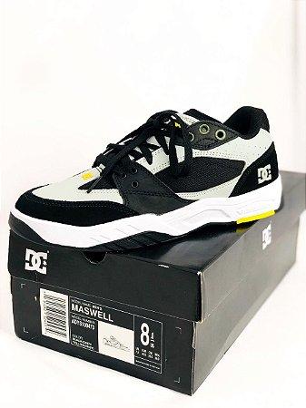 Tênis DC Shoes Maswell  Black/Grey/ Yellow Importado