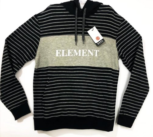 Moletom Element Striped Block Com Capuz Tam M