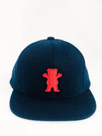 Boné Grizzly 6 Pannel OG Bear Snap  Aba Reta