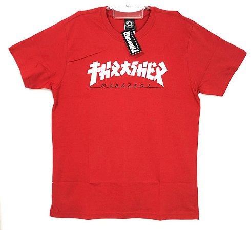 """Camisa Thrasher """"Godzila"""" Vermelha"""