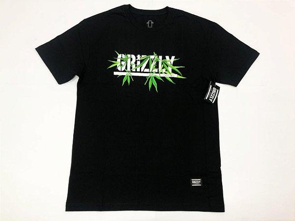 Camisa Grizzly Seeds Stamp  Black Original