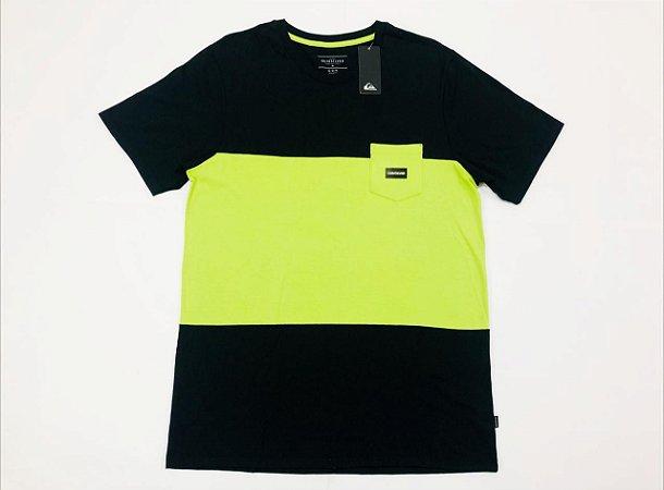 Camiseta Quiksilver Especial Division Block Pocket Original