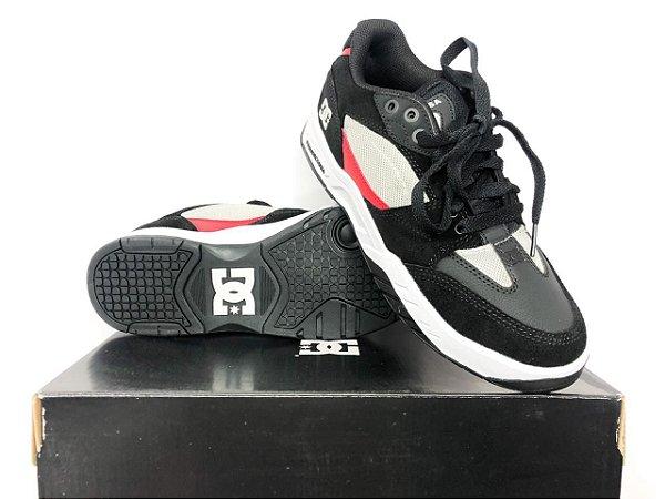 Tênis Dc Shoes Maswell Grey/black/red Imp Original