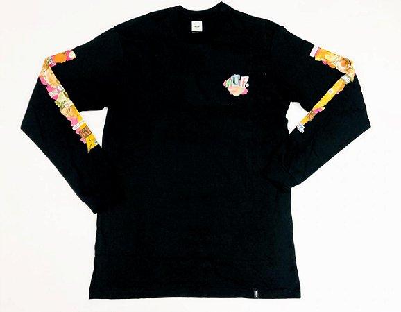 Camisa Huf Manga Longa Desire Black Original