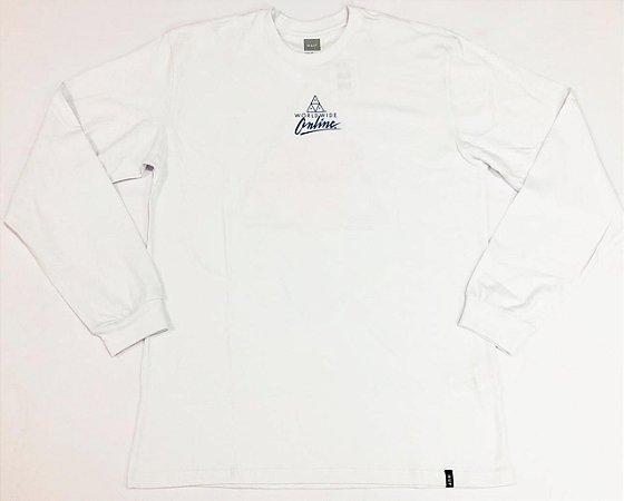 Camisa Huf Manga Longa Forbidden Domain White Original